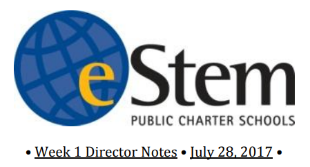 July 28 JHS Director Notes